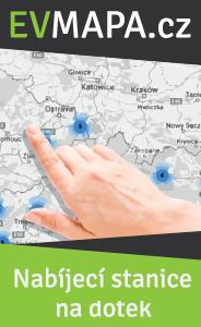 interaktivní mapa nabíjecích stanic EVMAPA