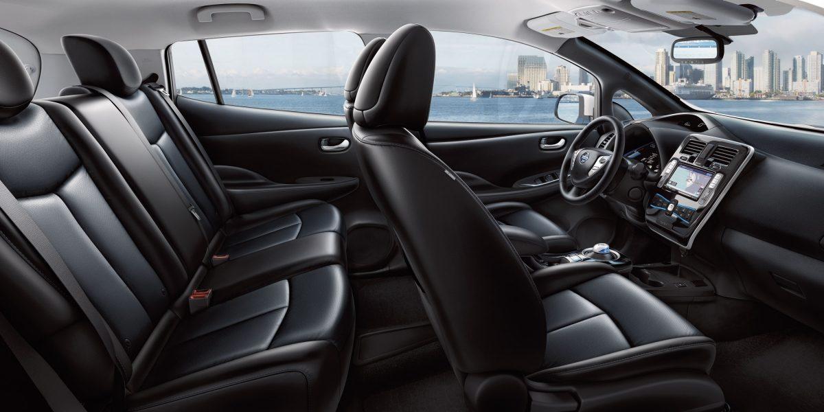 Interiér vozu Nissan Leaf