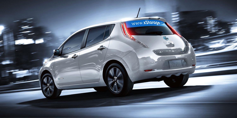 Aktuální model Nissanu Leaf v bílém provedení