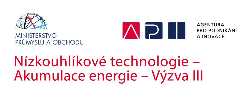 Projekt Nízkouhlíkové technologie - Akumulace energie - výzva III